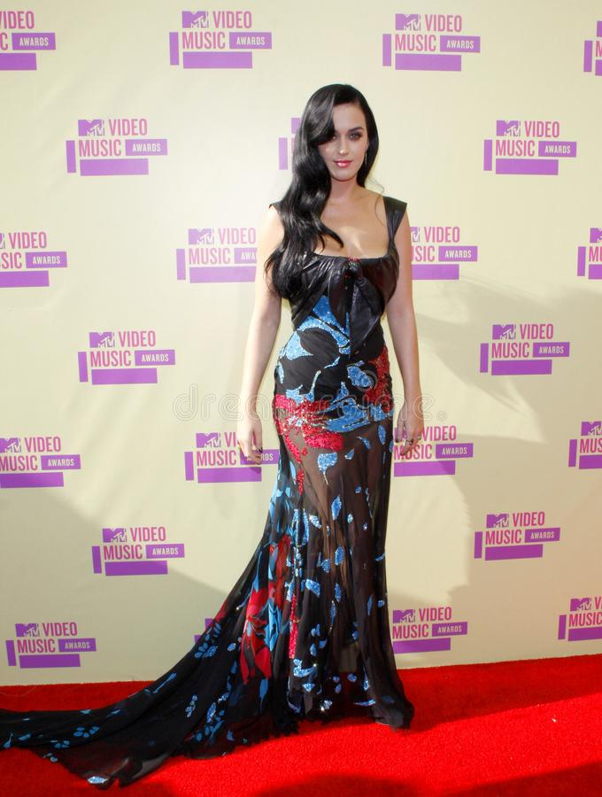 Katy Perry. At the 2012 MTV Video Music Awards held at the Staples Center in Los Angeles, United States on September 6, 2012 stock photo