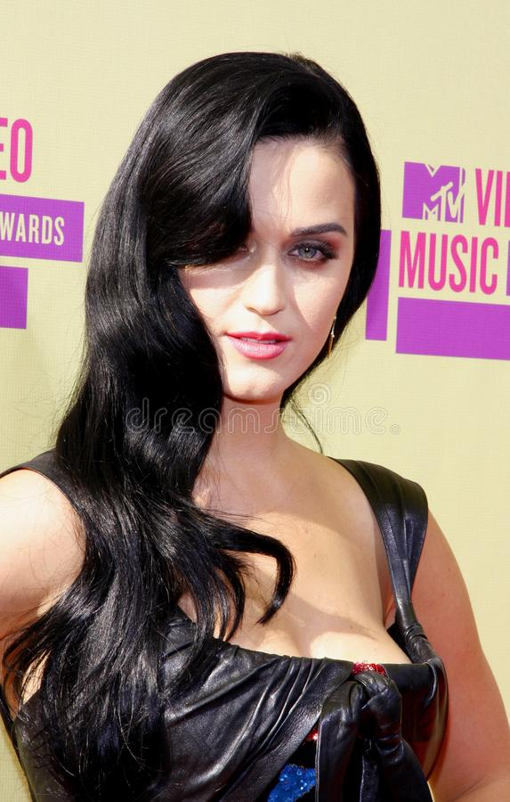 Katy Perry. At the 2012 MTV Video Music Awards held at the Staples Center in Los Angeles, United States on September 6, 2012 royalty free stock images