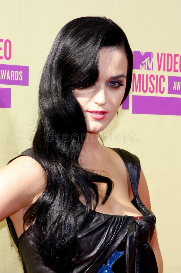 Katy Perry. At the 2012 MTV Video Music Awards held at the Staples Center in Los Angeles, United States on September 6, 2012 stock images