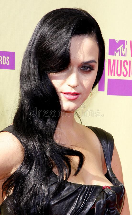 Katy Perry. At the 2012 MTV Video Music Awards held at the Staples Center in Los Angeles, United States on September 6, 2012 stock photography