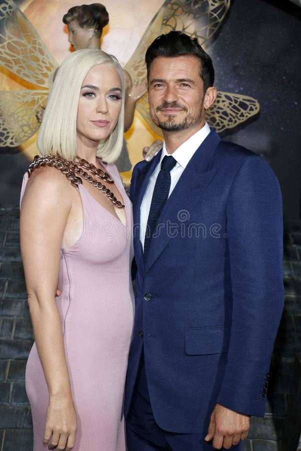 Katy Perry and Orlando Bloom stock images