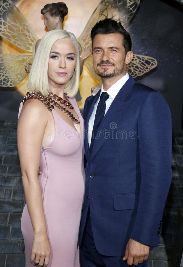Katy Perry and Orlando Bloom stock photography