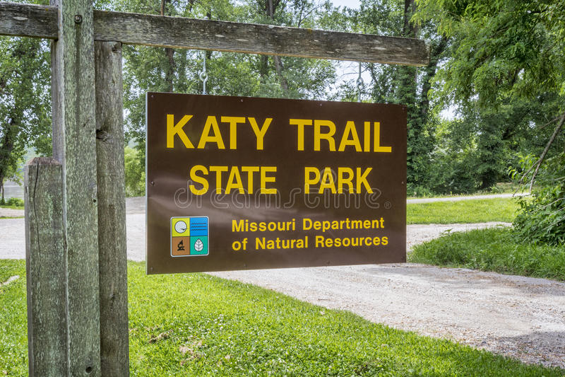 Katy Trail State Park royalty-vrije stock afbeelding