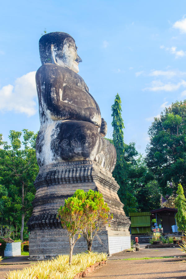 Katyayana image at Sala Keoku, the park of giant fantastic concrete sculptures inspired by Buddhism and Hinduism. It is located i. Sala Keoku, the park of giant stock photo