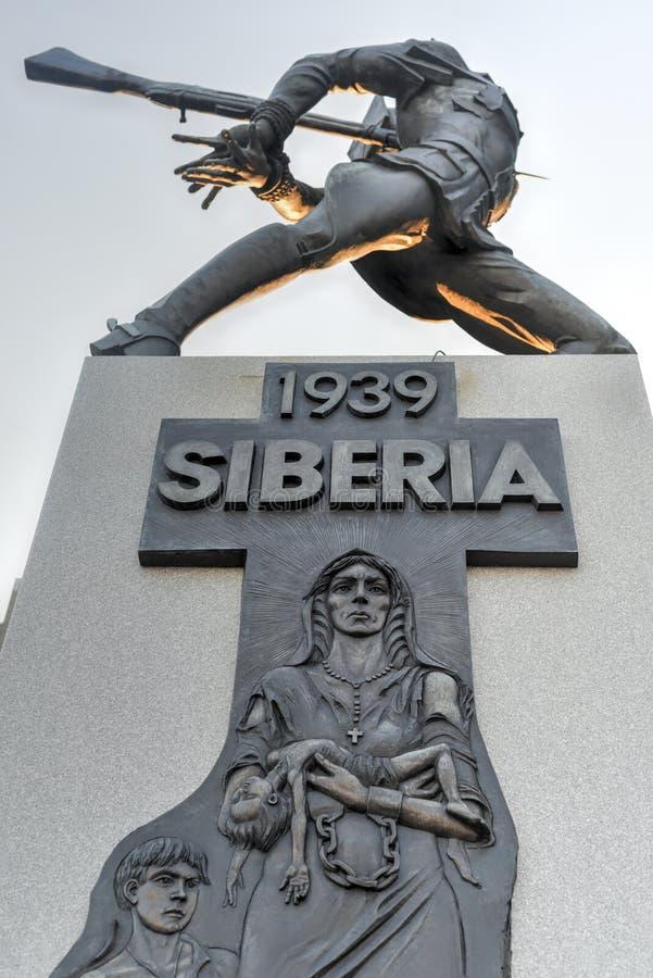 Katyn masakry pomnik - Dżersejowy miasto obrazy royalty free