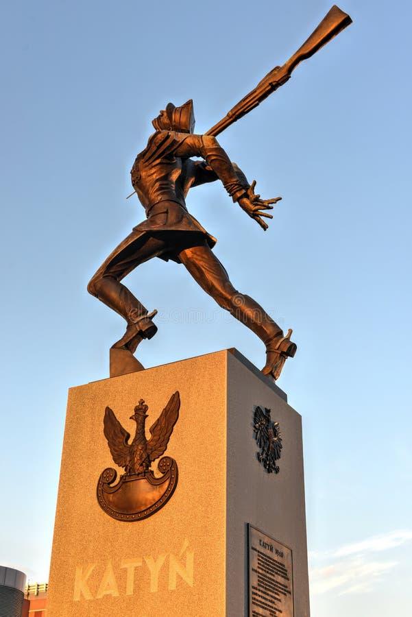 Katyn masakry pomnik - Dżersejowy miasto zdjęcie stock
