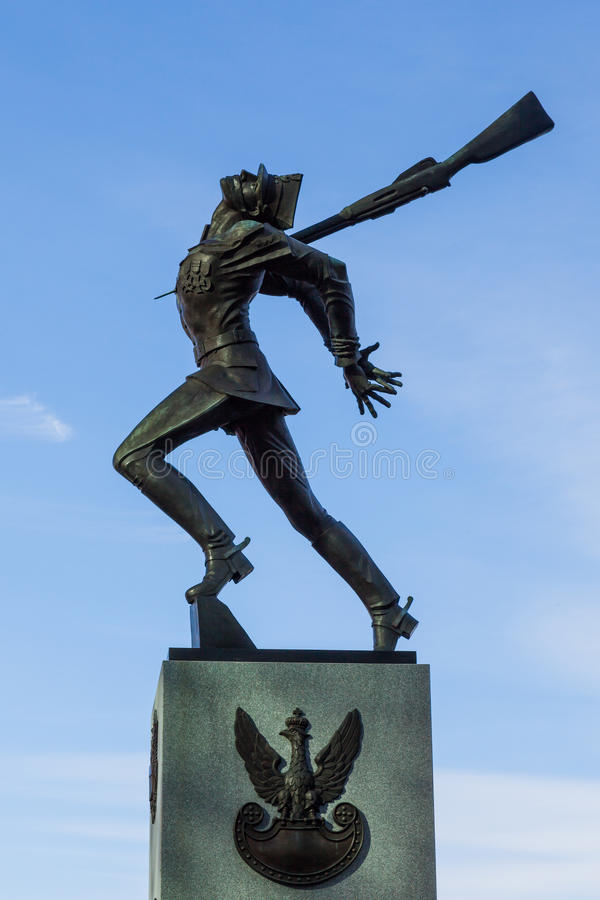Katyn masakry pomnik w Dżersejowym mieście przy hudsonu przodem zdjęcie stock