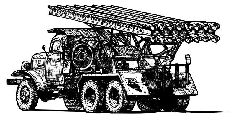 Katyusha stock de ilustración