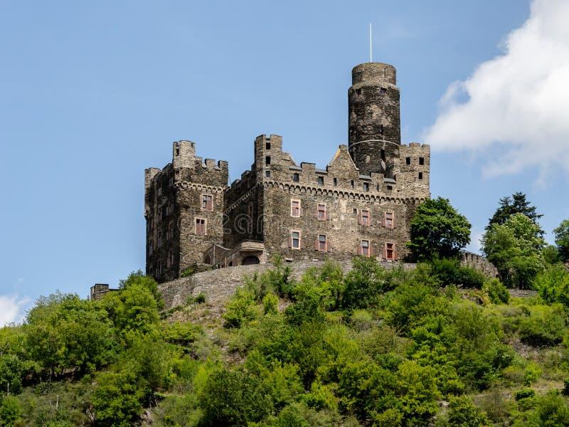 Katz Castle, Rijn royalty-vrije stock afbeeldingen