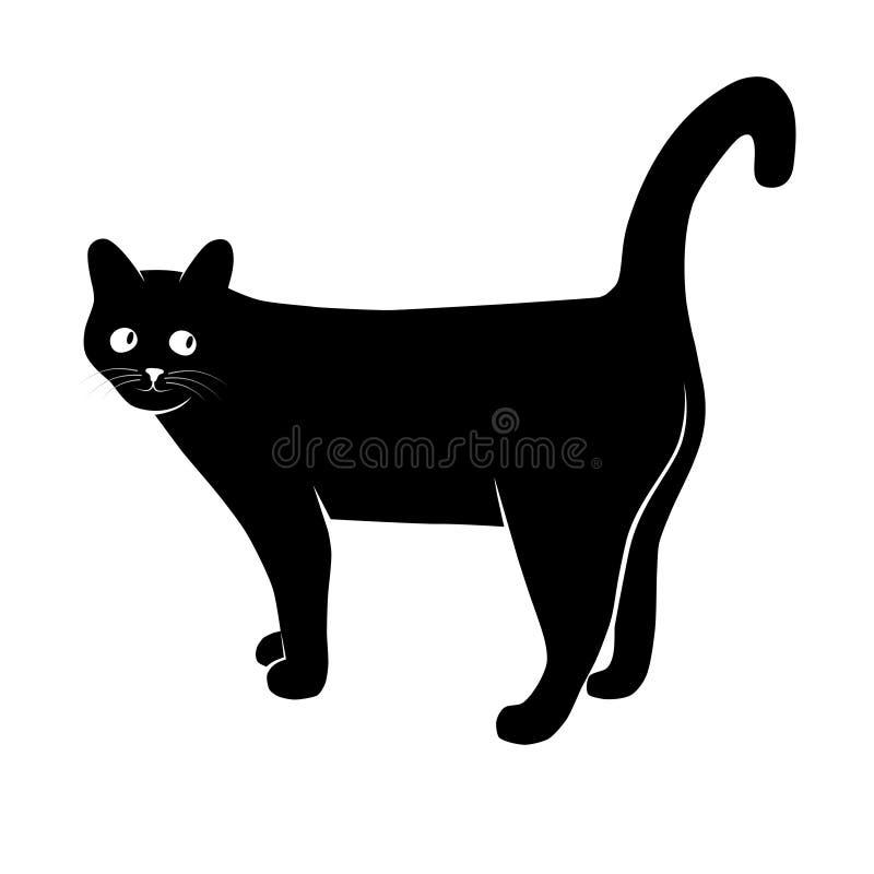 Katze im Gedankenzeichen stock abbildung