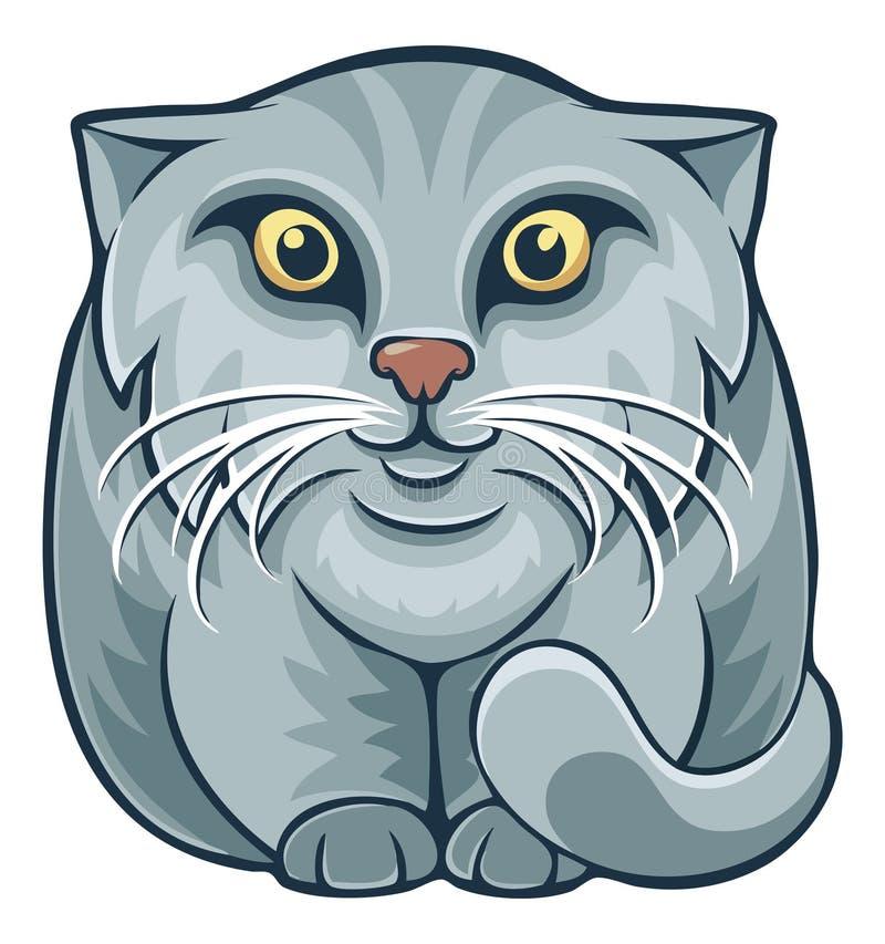 Katze Karikatur Manul Pallas stock abbildung