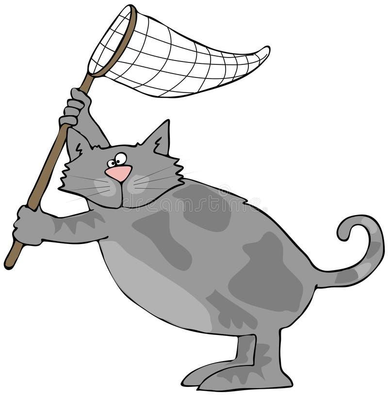 Katze mit einem Netz vektor abbildung
