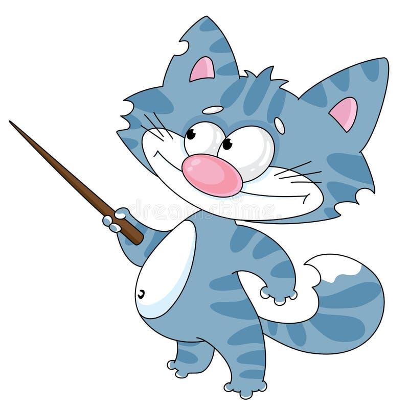 Katze mit einer Nadelanzeige stock abbildung