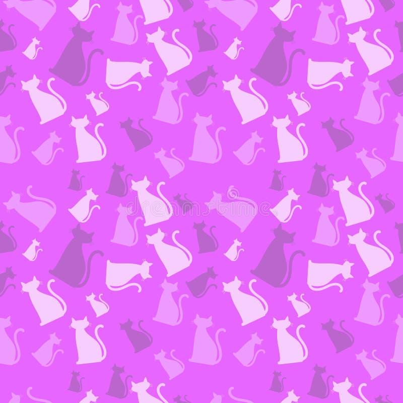 Katze-Muster-Rosa lizenzfreie abbildung