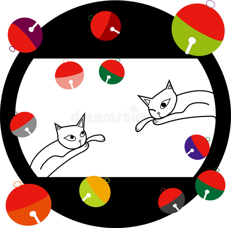 Katze und Zinn stock abbildung