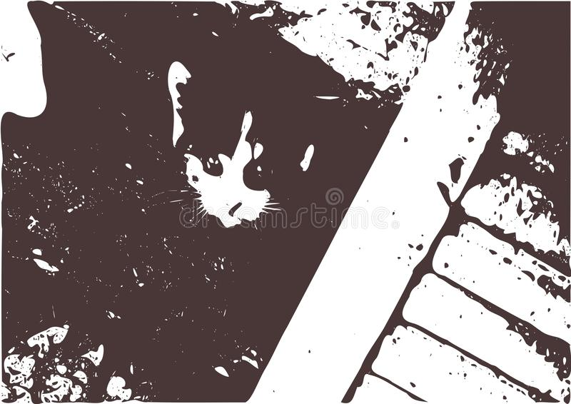 Katze von nirgendwo vektor abbildung