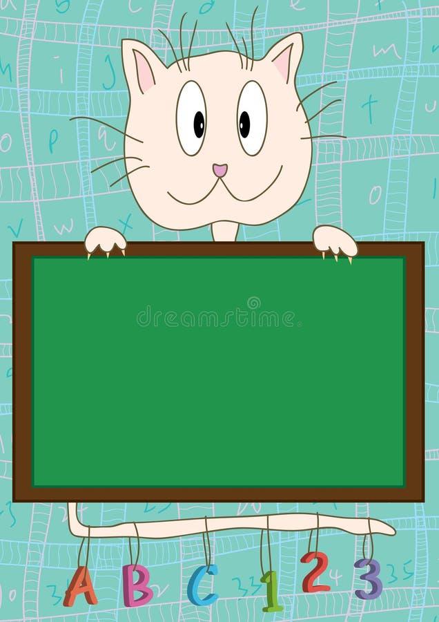 Katze-Vorstand-Lernen lizenzfreie abbildung