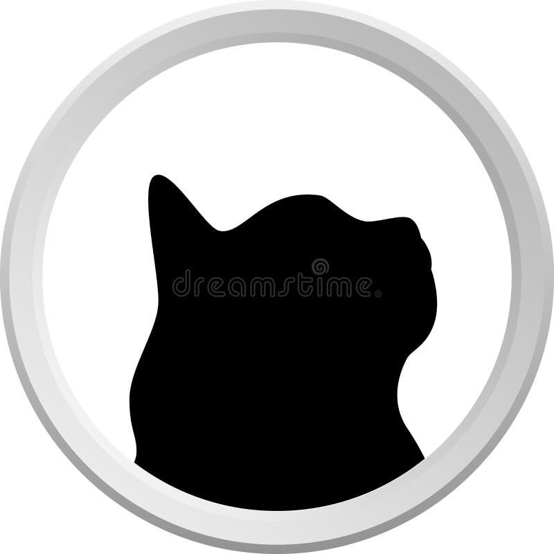Katze-Zeichen lizenzfreie abbildung