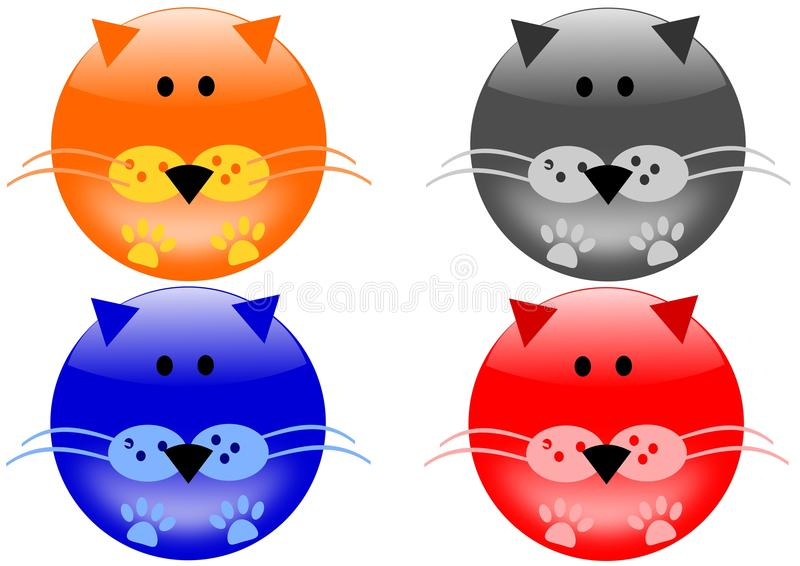 Katzeikonen stock abbildung