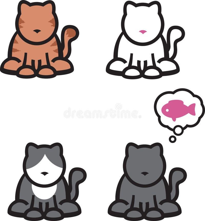 Katzen stock abbildung