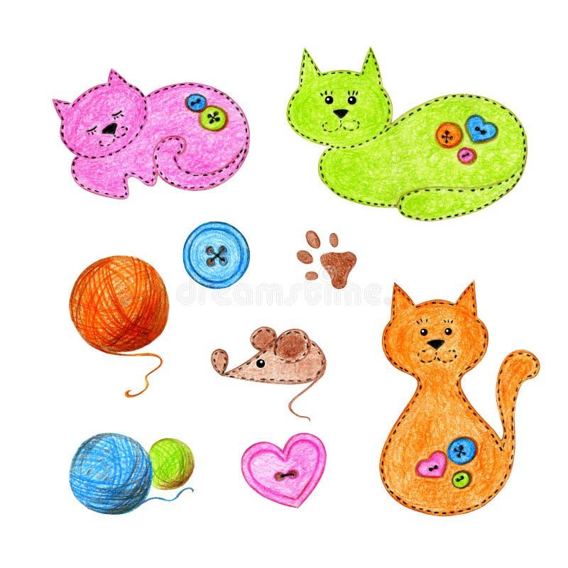 Katzen auf einem wei?en Hintergrund vektor abbildung