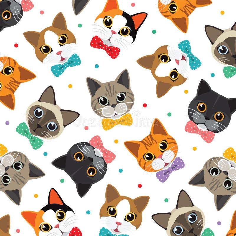 Katzen- u. Freundmuster lizenzfreie abbildung