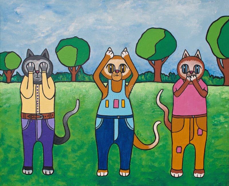 Katzen von Klugheit lizenzfreie abbildung