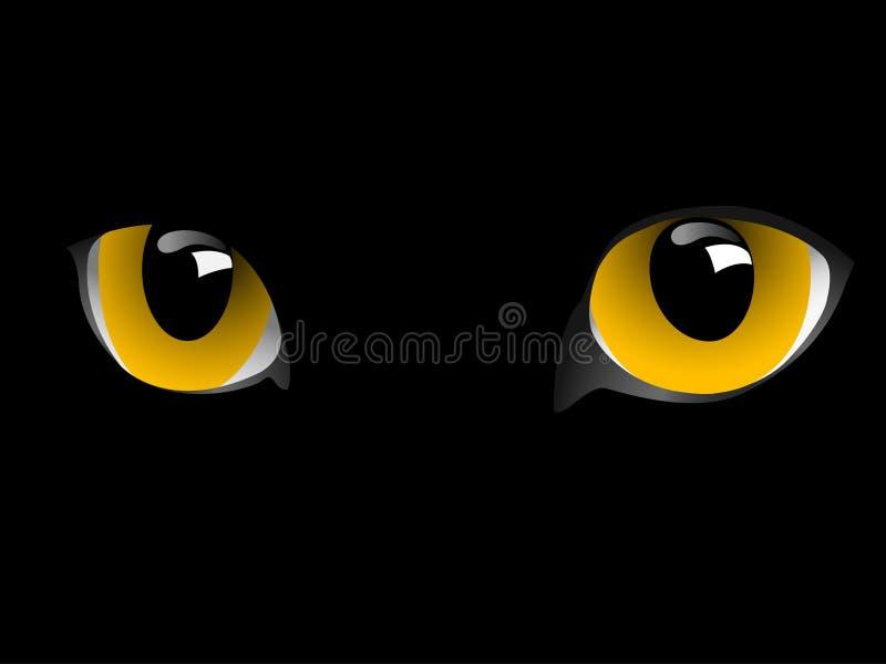 Katzenaugen. stock abbildung