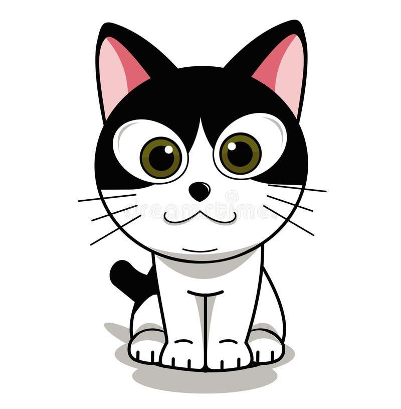 Katzenhaus Ihr Gefühl bequem machen lizenzfreie abbildung