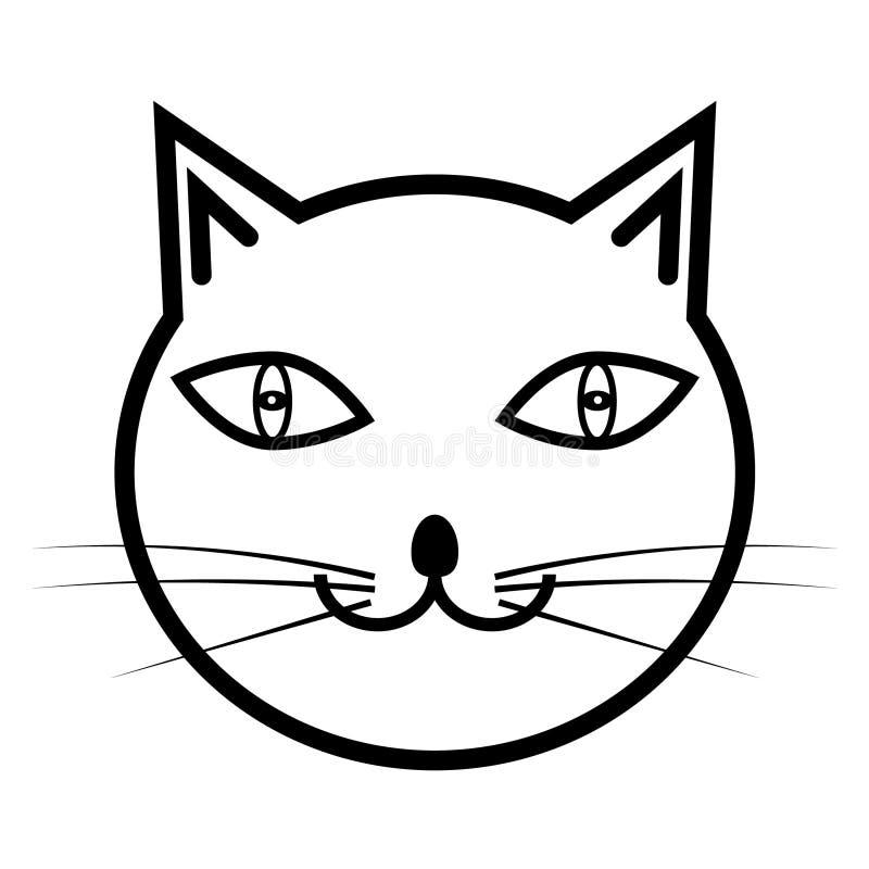 Katzenikone lokalisiert stock abbildung