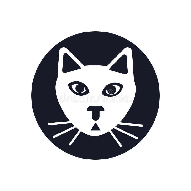 Katzenikonenvektorzeichen und -symbol lokalisiert auf weißem Hintergrund, Katzenlogokonzept lizenzfreies stockfoto