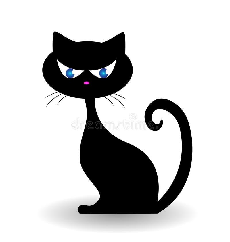 Katzenlogo stock abbildung