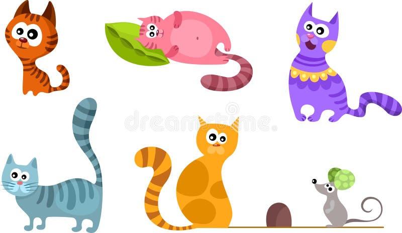 Katzeset stock abbildung