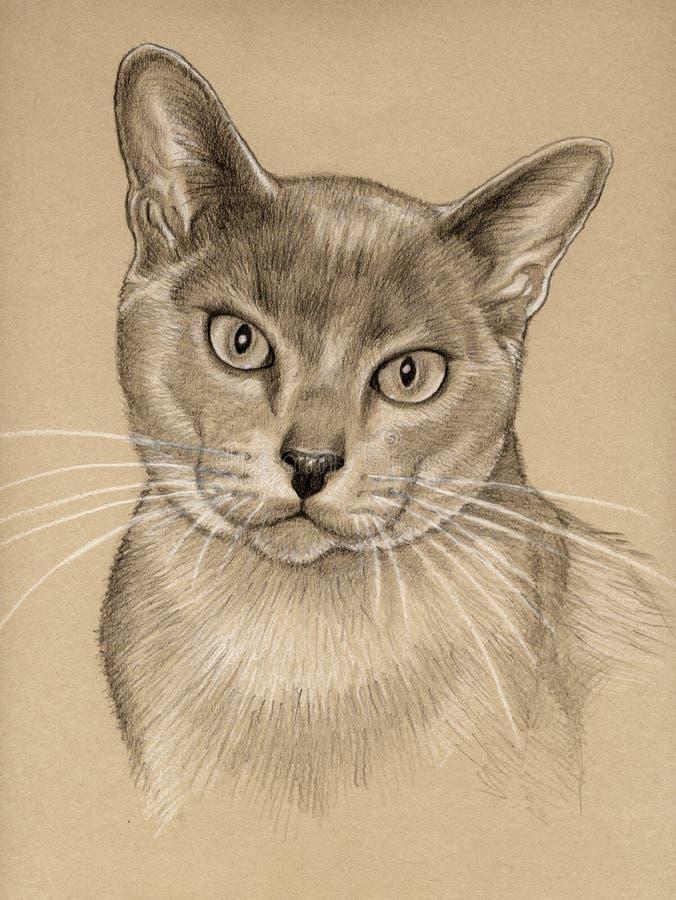 Katzezeichnungsskizze stock abbildung