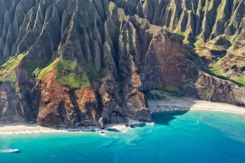 Kauai εναέρια άποψη ακτών napali στοκ φωτογραφία
