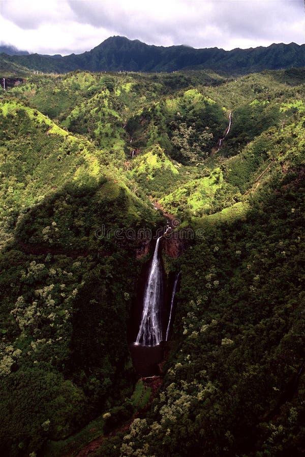 kauai πτώσεων manawaiopuna στοκ εικόνες