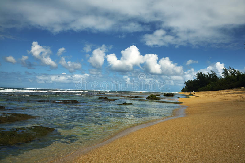 Kauai, Χαβάη παραλία σηράγγων στοκ φωτογραφία