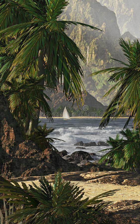 Kauai royalty-vrije illustratie