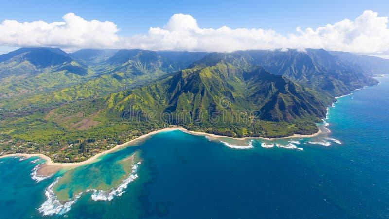 Kauai aerial view royalty free stock image
