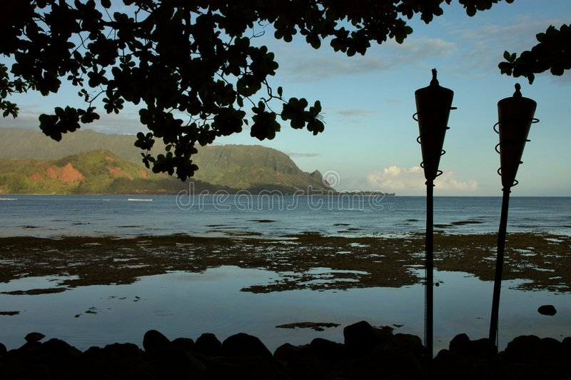 kauai hanalei κόλπων πρωί στοκ φωτογραφίες με δικαίωμα ελεύθερης χρήσης