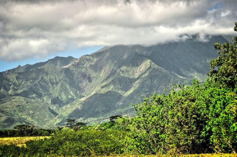 Kauai, Hawaii Mountains. Lush green mountains on Kauai, Hawaii royalty free stock photos