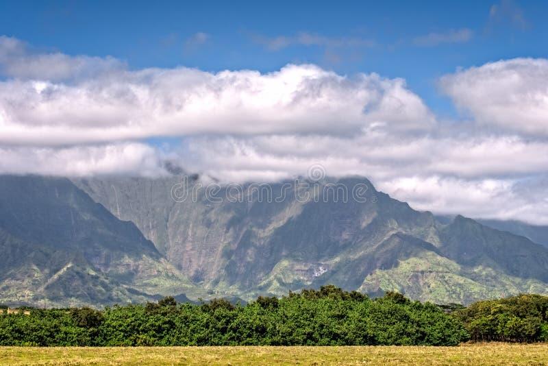Kauai, Hawaii Mountains. Lush green mountains on Kauai, Hawaii stock images