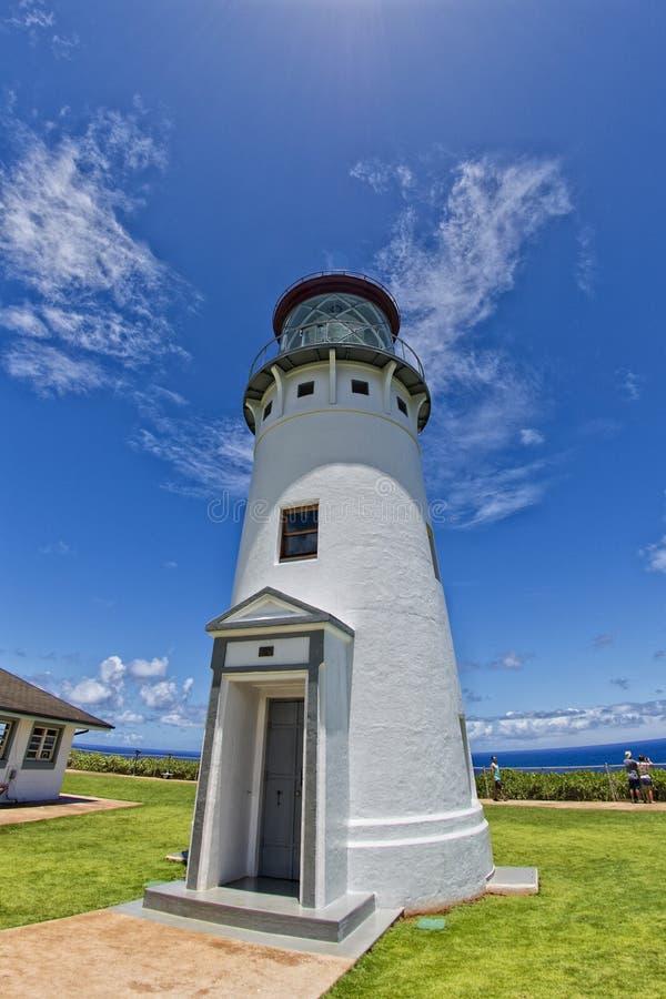 Kauai lighthouse kilauea point royalty free stock image
