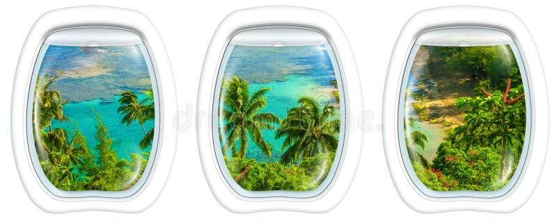 Kauai op venster stock afbeelding