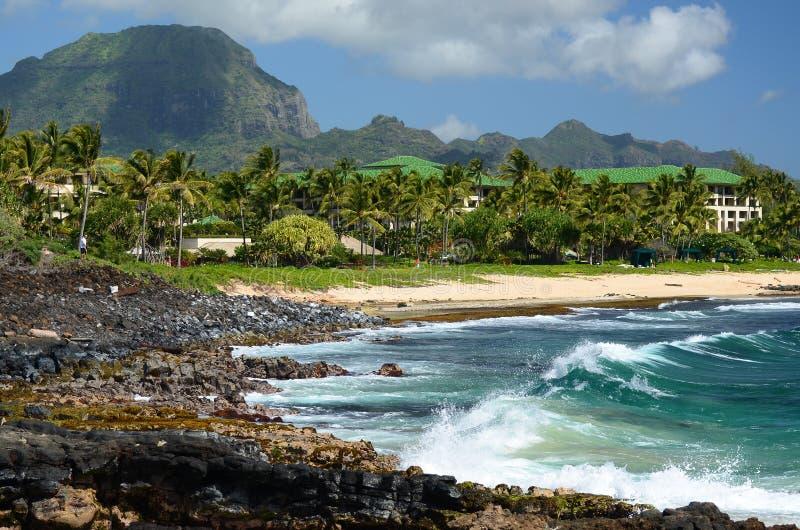 kauai plażowy shipwreck zdjęcia royalty free