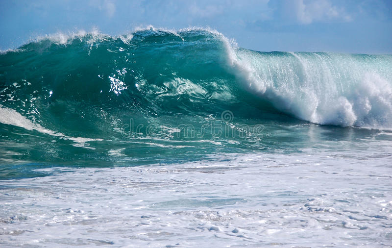 Kauai shorebreak stock photography