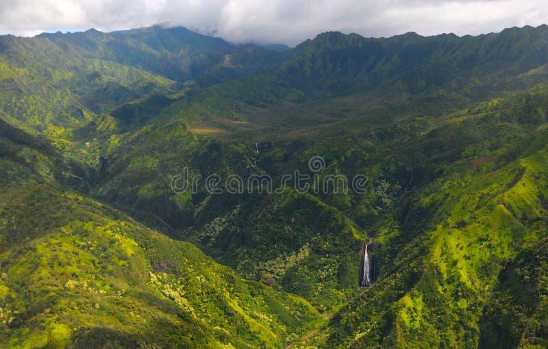 Kauai waterfalls royalty free stock photography