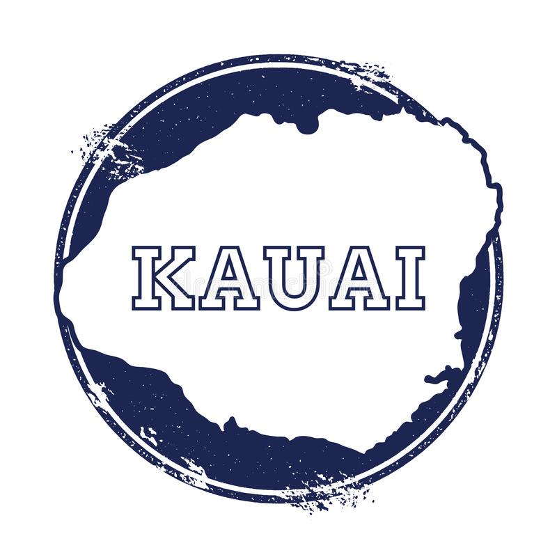 Kauai wektorowa mapa ilustracji