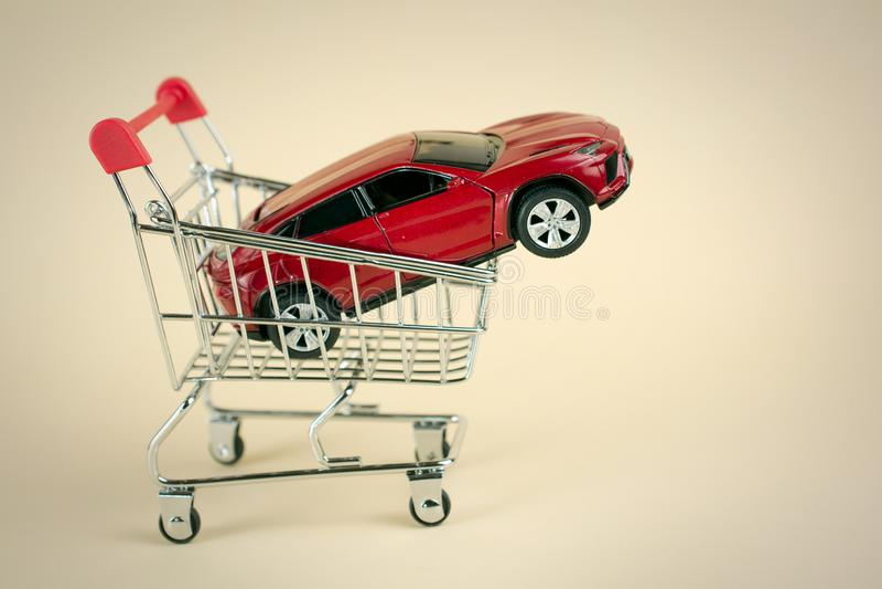 Kauf, der Auto verkauft lizenzfreie stockfotos