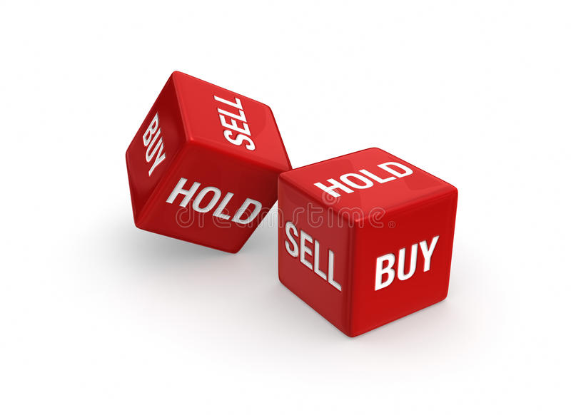 Kauf oder Verkauf? lizenzfreie abbildung